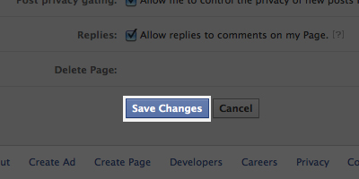 FacebookSaveChanges