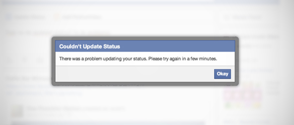 Facebook Currently Doesn't Allow Status Updates